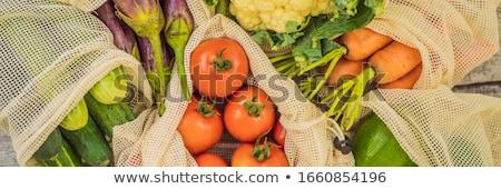 Diverso verdura borse legno pari a zero Foto d'archivio © galitskaya