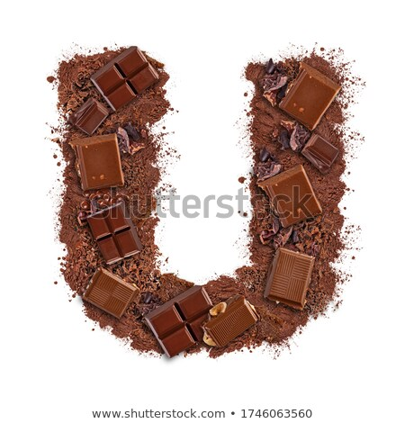 Letter U made of chocolate bar  Stock photo © grafvision