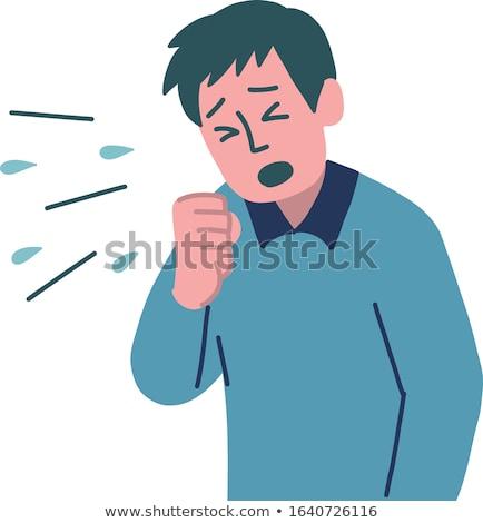 Allergiás beteg férfi tüsszentés fickó férfi Stock fotó © AndreyPopov