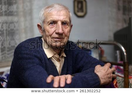 男 · カウボーイハット · 肖像 · 笑みを浮かべて · 高齢者 · 着用 - ストックフォト © iofoto