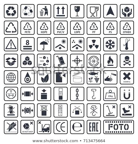 Símbolos dezesseis projeto caminhão Foto stock © milmirko