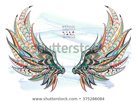 Totem Pole Eagle wings stock photo © stoonn