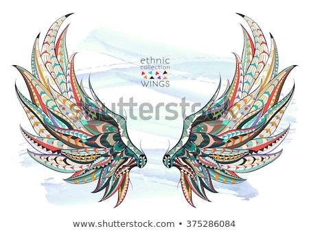 Pólus sas szárnyak szobor művészet piros Stock fotó © stoonn