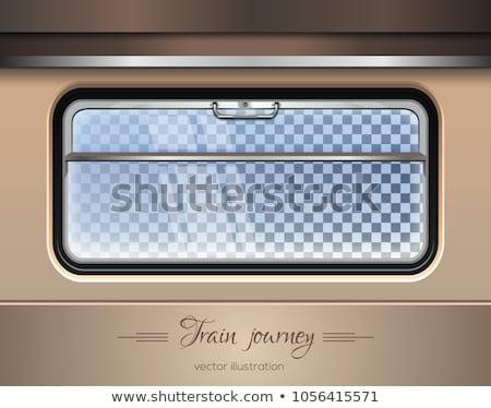 Vonat vagon ablak függöny bent terv Stock fotó © simply