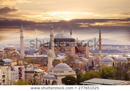 kilátás · Isztambul · Törökország · város · épületek - stock fotó © travelphotography