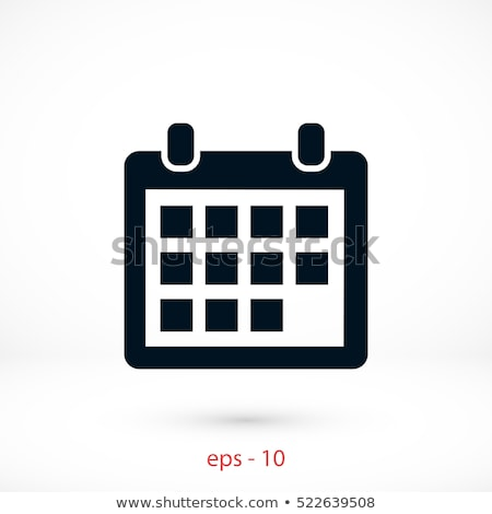 abstract calender icon stock photo © pathakdesigner