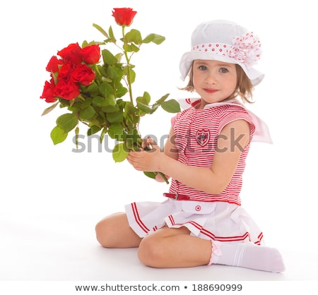 girl with gerbera flower Stock photo © zastavkin