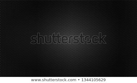 черный гриль металл перфорированный обои стали Сток-фото © nicemonkey