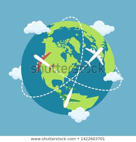 world and plane Stock photo © pkdinkar