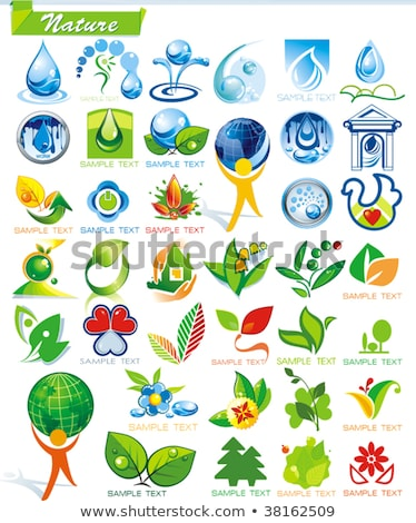 Ayarlamak yeşil etiketler dizayn renk temizlemek Stok fotoğraf © AnnaVolkova