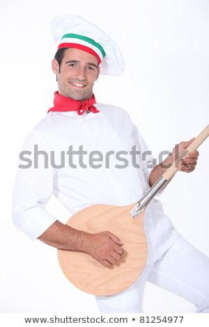 pizza cook playing guitar with a spade Stock photo © photography33