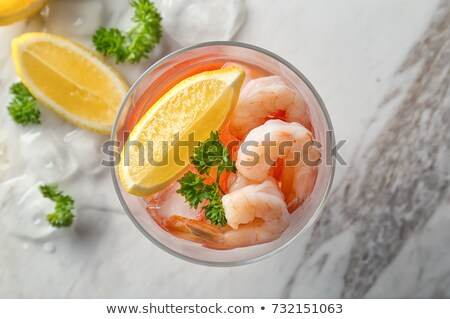 Iced shrimp cocktail Stock photo © stevemc