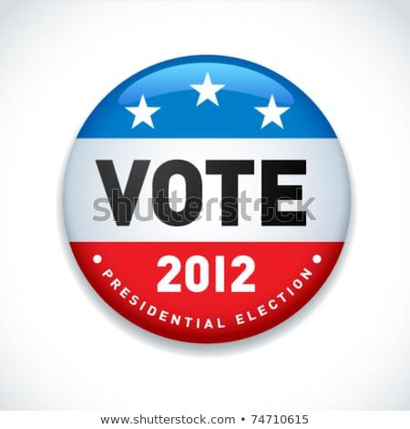 Presidencial eleição 2012 botões conjunto seis Foto stock © creisinger