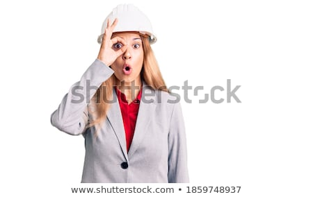 Female architect with shocked expression on face Stock photo © photography33