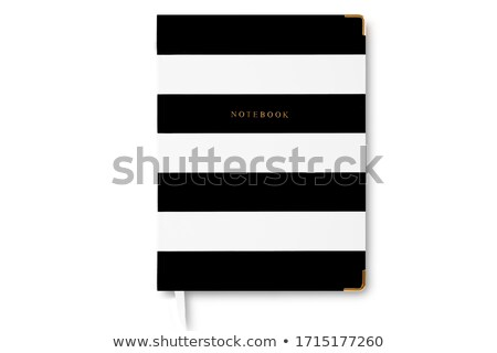 Black daybook with bookmarks Stock photo © Arsgera