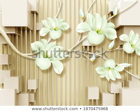 Tropical plumeria flowers on a wooden grid stock photo © 808isgreat