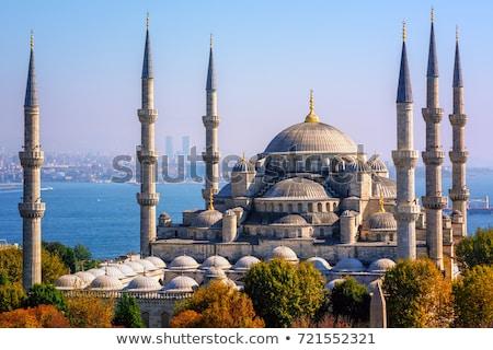 kék · mecset · Törökország · Isztambul · kék · ég · művészet - stock fotó © njaj