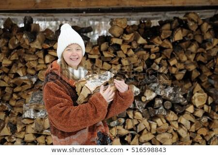 Woman gathering wood Stock photo © photography33