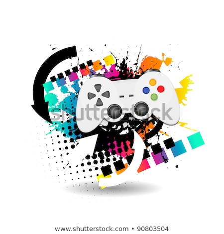 Man uit video game gezicht leuk Stockfoto © photography33