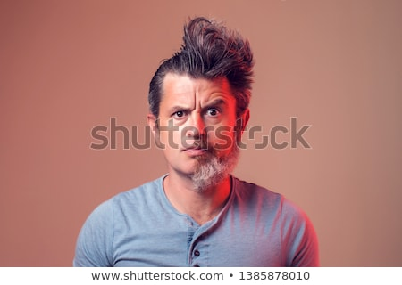 Man with a beard on half Stock photo © vlad_star