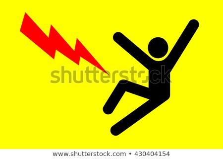 Elettricista shock fuoco capelli spazio blu Foto d'archivio © photography33