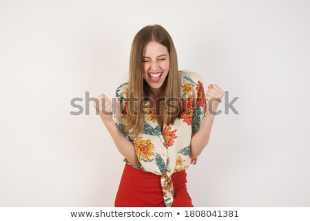 Woman rejoicing Stock photo © photography33