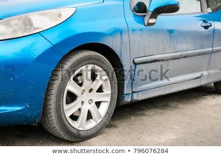 Uszkodzony drogowego grunge farby wyblakły Zdjęcia stock © lunamarina