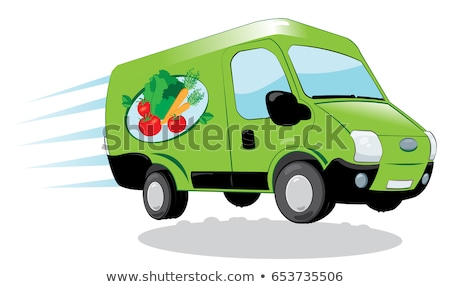 Green delivery van Stock photo © RTimages