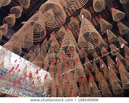 incense coils in chinese temple ho chi minh saigon vietnam Stock photo © travelphotography