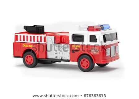 Zabawki wóz strażacki tle ciężarówka czerwony biały Zdjęcia stock © photography33