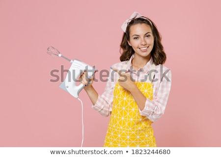 Morena eléctrica mezclador mujer ojo luz Foto stock © photography33