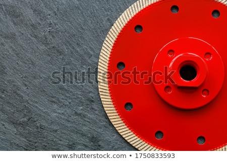 pierre · disque · circulaire · vu · lame - photo stock © inxti