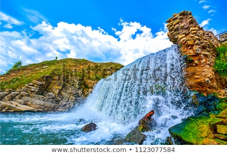 Foto stock: Cachoeiras · água · natureza · paisagem · verde · viajar