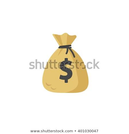 Money bag on paper money Stock photo © raywoo