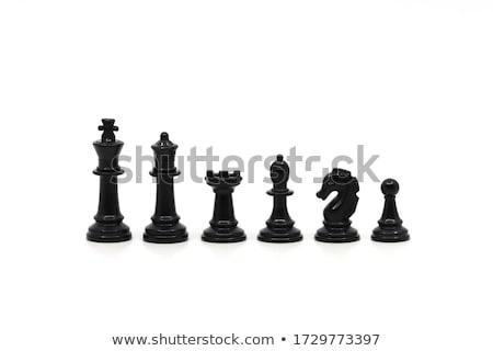 nero · bordo · bianco · pedone · scacchi - foto d'archivio © wavebreak_media