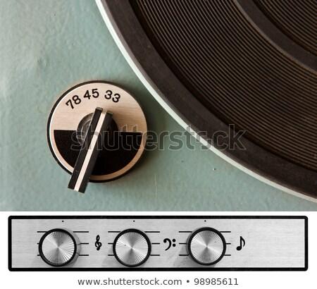 Fekete bakelit lemezek klasszikus zene háttér Stock fotó © artush
