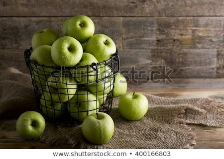 Nagyi alma fa asztal zöld gyümölcs mezőgazdaság Stock fotó © dbvirago