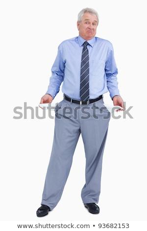 üzletember · üres · üzletember · sötét · öltöny · nyakkendő - stock fotó © wavebreak_media