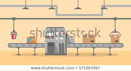 gordel · verpakking · lijn · fabriek · industriële · vervoer - stockfoto © guffoto