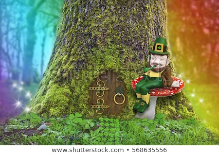 Leprechaun Sitting on Toadstool Stock photo © AlienCat