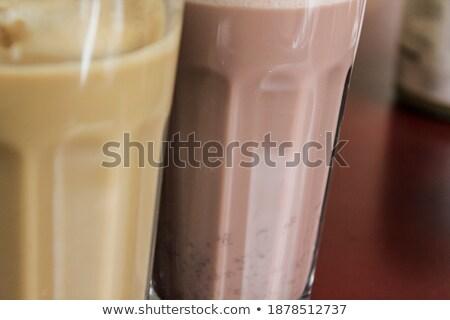 dwa · okulary · czekolady · mleka · fasola · biały - zdjęcia stock © Rob_Stark