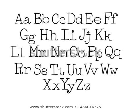 Schrijfmachine brieven qwerty geschreven witte papier Stockfoto © samsem