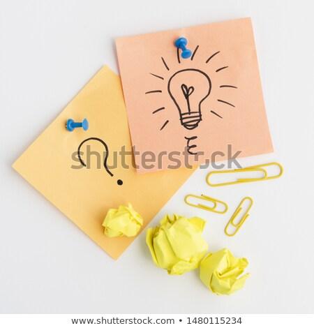 Sarı yapışkan dikkat beyaz turuncu Stok fotoğraf © wavebreak_media