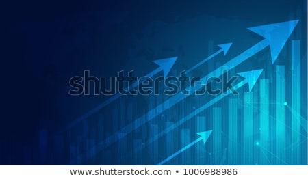 Цифровая иллюстрация бизнеса роста графа Финансы будущем Сток-фото © 4designersart