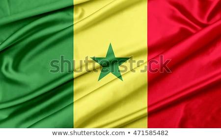 ファブリック · テクスチャ · フラグ · セネガル · 青 · 弓 - ストックフォト © maxmitzu