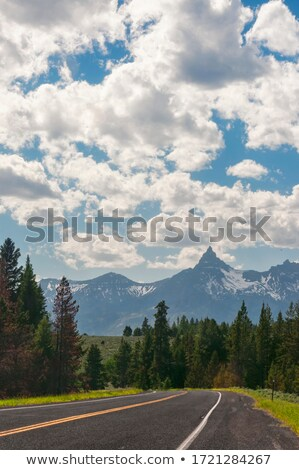 Beartooth Highway in Spring Stock photo © emattil