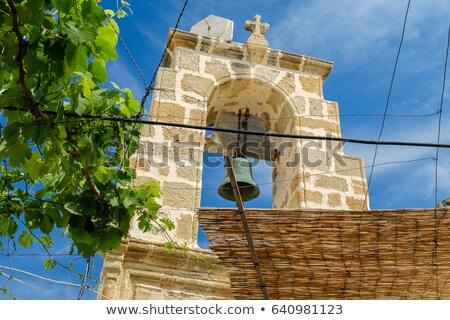 Kerk twee kruisen klein Grieks orthodox Stockfoto © searagen