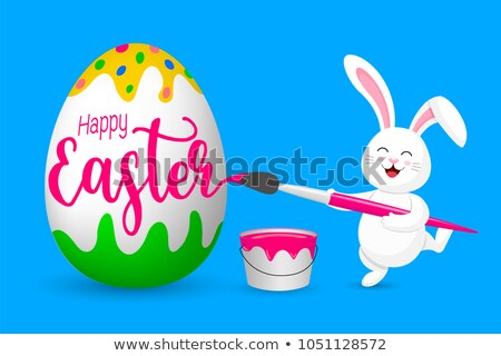 couple is painting easter eggs Stock photo © Pasiphae