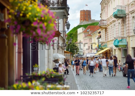 Vilnius velho rua Lituânia cidade velha europa Foto stock © kyolshin