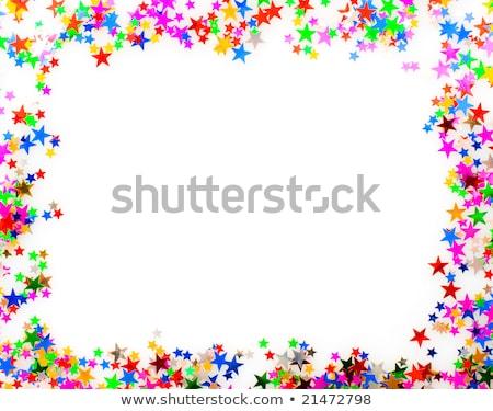 ストックフォト: 星 · 紙吹雪 · 異なる · 色 · フレーム